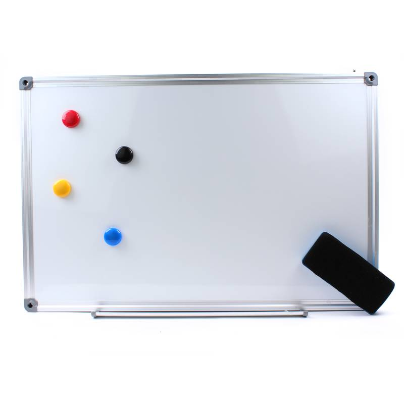 Whiteboard magnetic strips